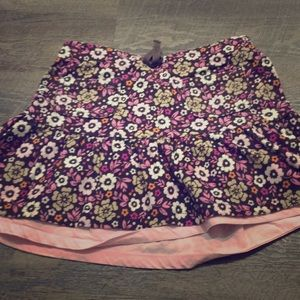 Girls flowered skirt